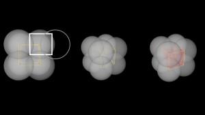 Spheres-cubes